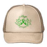 Mariposa del lema de la esperanza de lesión de la  gorra