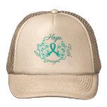 Mariposa del lema de la esperanza del escleroderma gorras de camionero