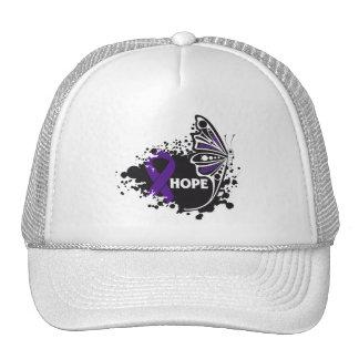 Mariposa del lupus de la esperanza gorros bordados
