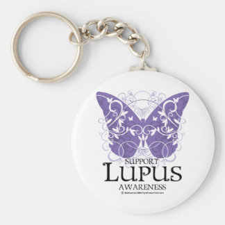 Mariposa del lupus llavero redondo tipo pin
