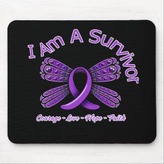 Mariposa del lupus soy un superviviente alfombrilla de raton