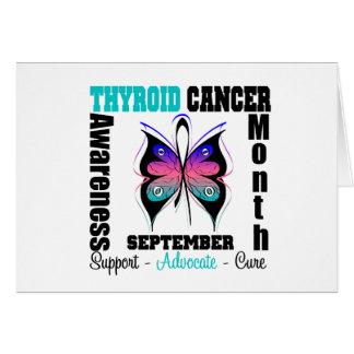 MARIPOSA del mes de la conciencia del cáncer de ti Tarjeta De Felicitación