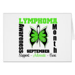 Mariposa del mes de la CONCIENCIA del linfoma de l Felicitación