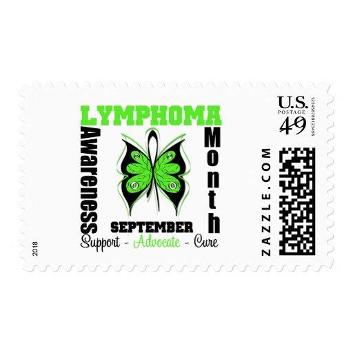 Mariposa del mes de la CONCIENCIA del linfoma de Sellos