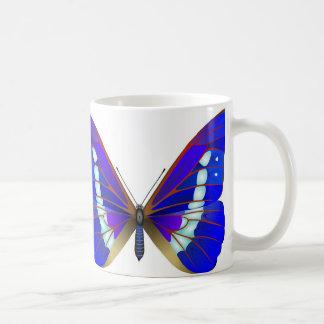 mariposa del morpho taza clásica