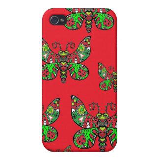 Mariposa del navidad iPhone 4/4S fundas