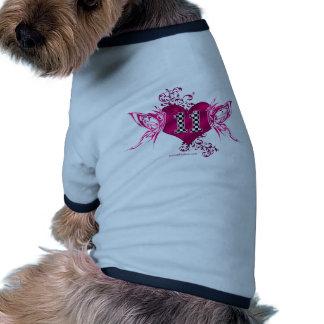 mariposa del número 11 del coche de carreras camiseta con mangas para perro
