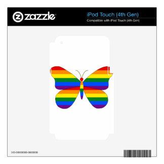 Mariposa del orgullo gay calcomanía para iPod touch 4G