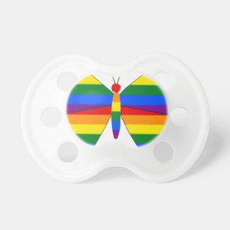 Mariposa del orgullo gay chupetes de bebe