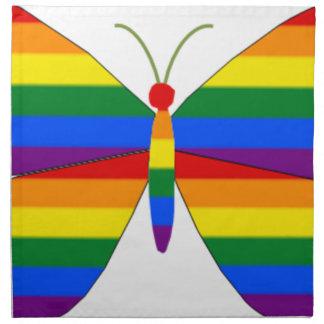 Mariposa del orgullo gay servilleta de papel