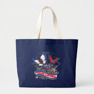 Mariposa del patriotismo de Carolina del Sur Bolsa De Tela Grande