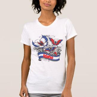 Mariposa del patriotismo de Idaho Camiseta