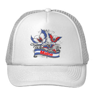 Mariposa del patriotismo de Maine Gorra