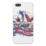 Mariposa del patriotismo de Massachusetts iPhone 5 Cárcasas