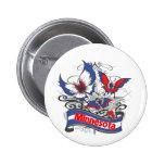 Mariposa del patriotismo de Minnesota Pin