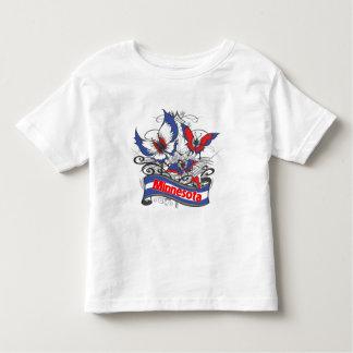 Mariposa del patriotismo de Minnesota Playera De Bebé