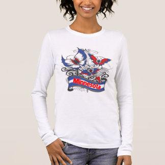 Mariposa del patriotismo de Minnesota Playera De Manga Larga