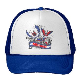 Mariposa del patriotismo de Missouri Gorro De Camionero