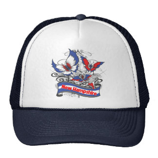 Mariposa del patriotismo de New Hampshire Gorras