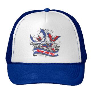 Mariposa del patriotismo de New Jersey Gorras De Camionero