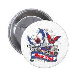 Mariposa del patriotismo de Nueva York Pins