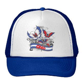 Mariposa del patriotismo de Ohio Gorro