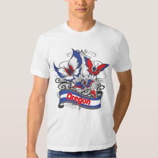 Mariposa del patriotismo de Oregon Camisas