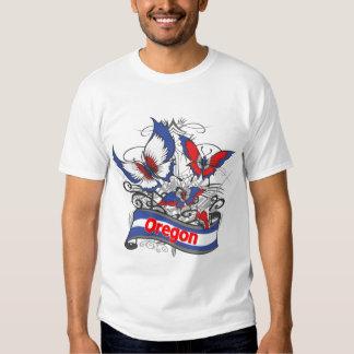 Mariposa del patriotismo de Oregon Polera