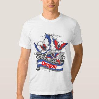 Mariposa del patriotismo de Oregon Remeras
