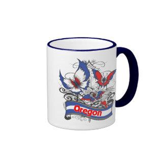 Mariposa del patriotismo de Oregon Taza De Café