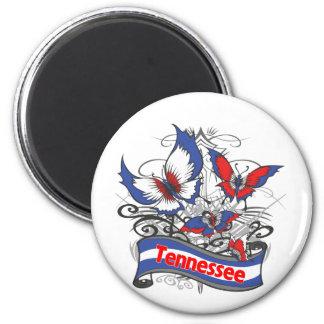 Mariposa del patriotismo de Tennessee Imán