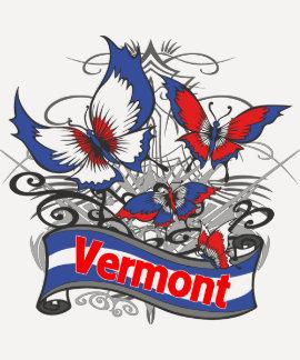 Mariposa del patriotismo de Vermont Camisetas