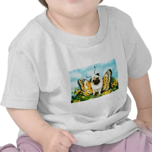 Mariposa del perro del barro amasado camiseta