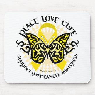 Mariposa del PLC del cáncer de hígado tribal Mousepads