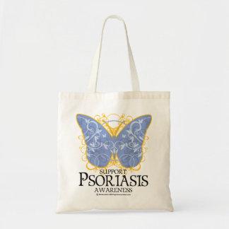 Mariposa del psoriasis bolsa tela barata