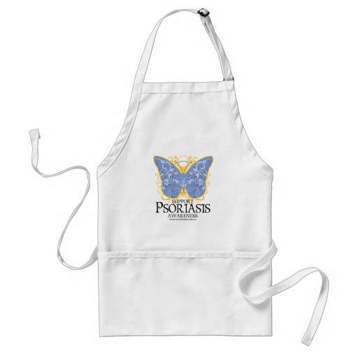 Mariposa del psoriasis delantal