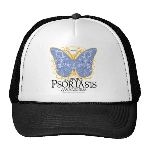 Mariposa del psoriasis gorros bordados