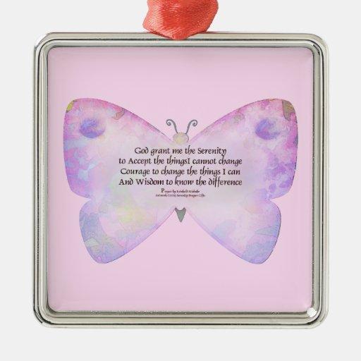 Mariposa del rosa y de la lavanda del rezo de la ornamento de reyes magos