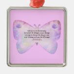 Mariposa del rosa y de la lavanda del rezo de la s ornamento de reyes magos
