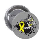 Mariposa del sarcoma de Ewing de la esperanza Pins