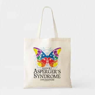 Mariposa del síndrome de Asperger Bolsa Tela Barata