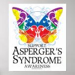 Mariposa del síndrome de Asperger Posters