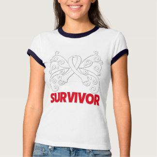 Mariposa del superviviente del cáncer de hueso playera