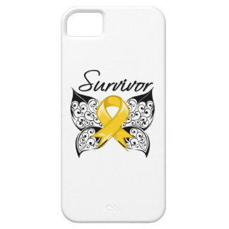 Mariposa del superviviente del cáncer de iPhone 5 carcasa