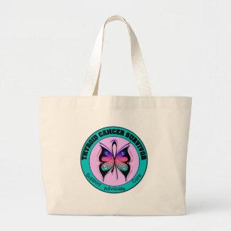 Mariposa del superviviente del cáncer de tiroides bolsas