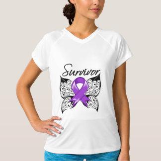 Mariposa del superviviente del cáncer del ESENCIAL Camisas