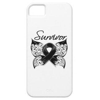 Mariposa del superviviente del cáncer del melanoma iPhone 5 coberturas
