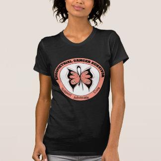 Mariposa del superviviente del cáncer endometrial camiseta