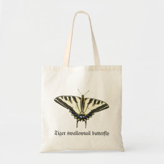 Mariposa del swallowtail del tigre bolsa tela barata