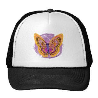 Mariposa del teñido anudado gorras